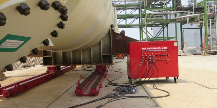 Jacking & Skidding of JGS Rectifier Column (343tons – 83m length)